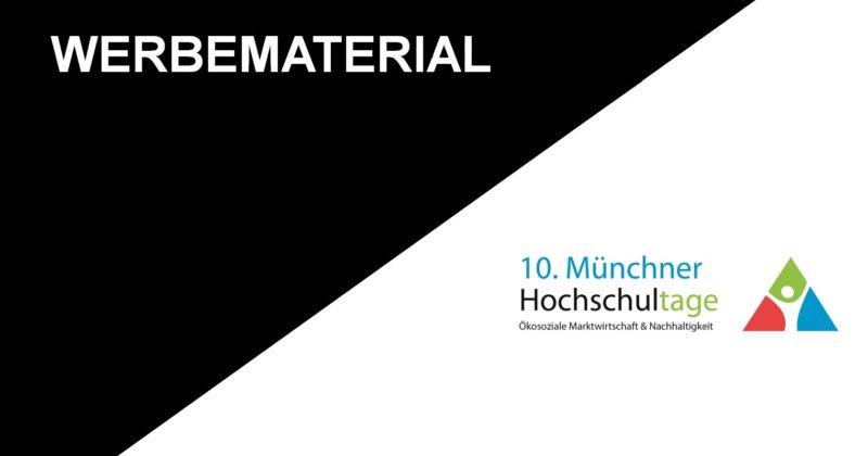Werbematerial der 10. Münchner Hochschultage