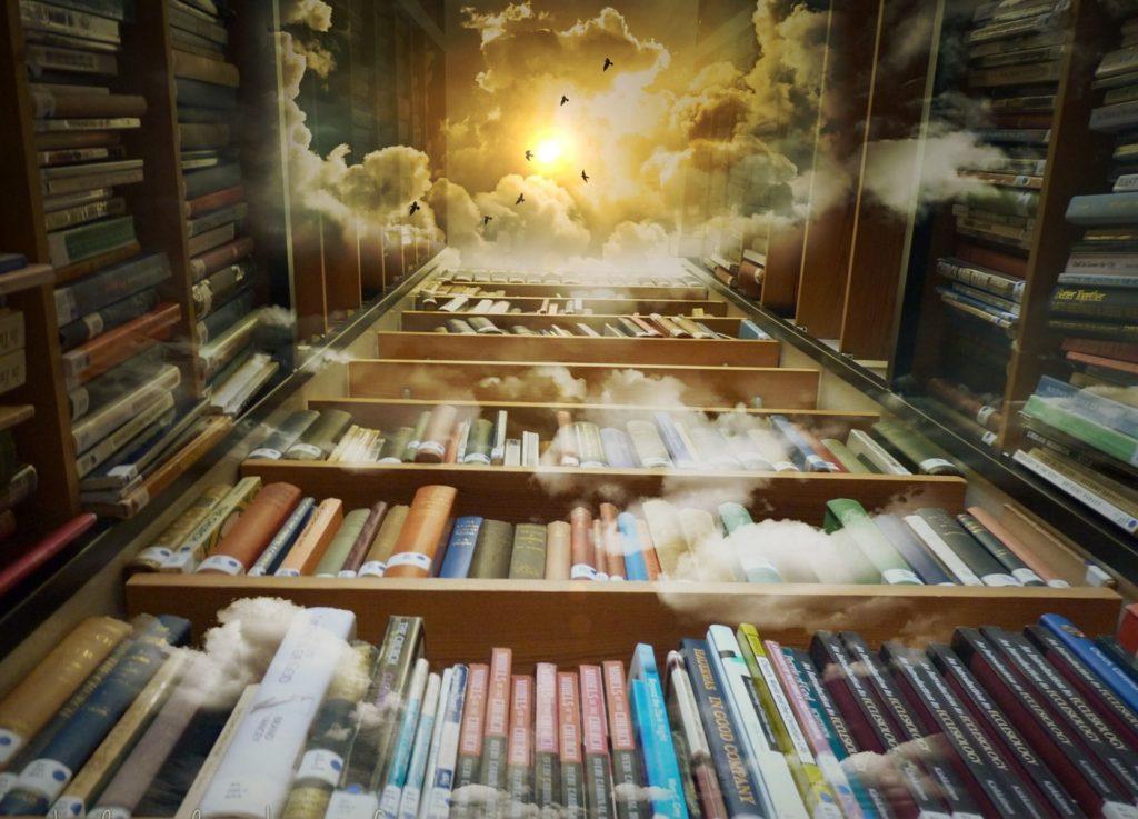 Dieses Bild hat ein leeres Alt-Attribut. Der Dateiname ist bibliothek-himmel-voegel-pixabay-cc0-Mysticsartdesign-1024x737.jpg